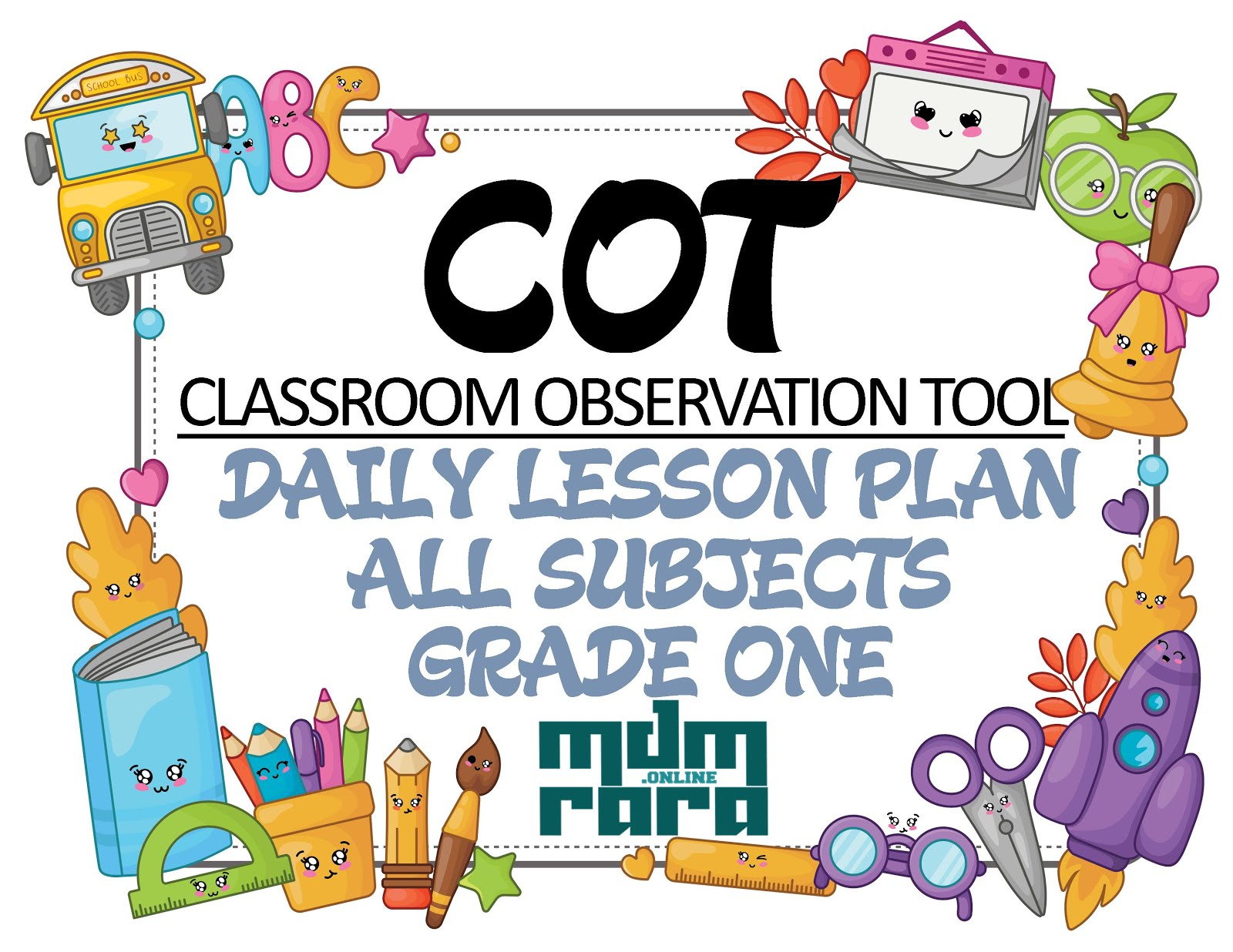 CLASSROOM OBSERVATION TOOL (COT) DAILY LESSON PLAN (DLP) GRADE ONE - mdmrara [ 1236 x 1600 Pixel ]