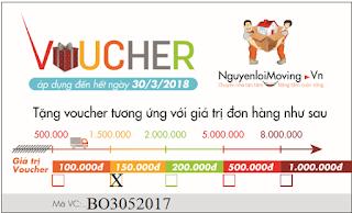 Voucher giảm giá đính kèm mã đơn hàng