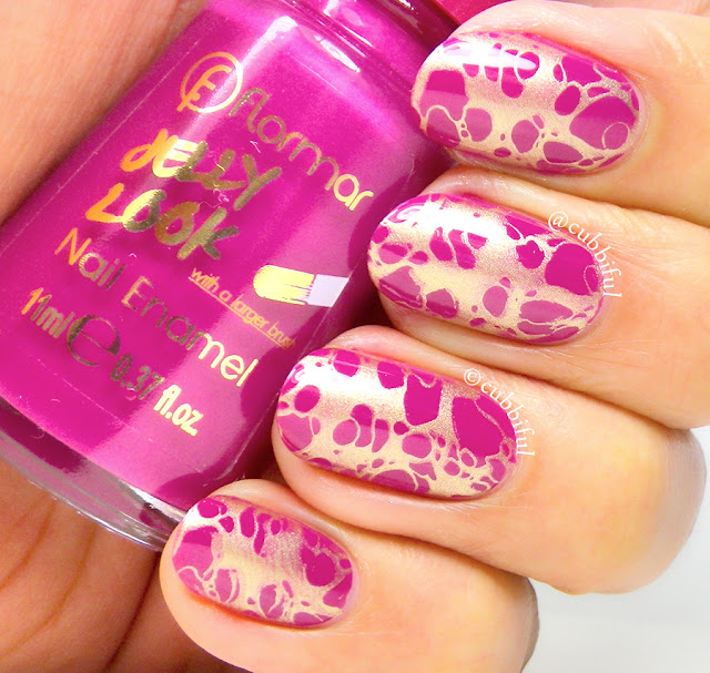 waterspotted stamping nails