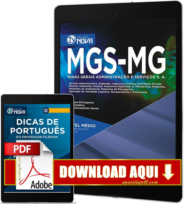 Apostila MGS MG 2017 PDF Download Cargos de Nível Médio Grátis Curso Online