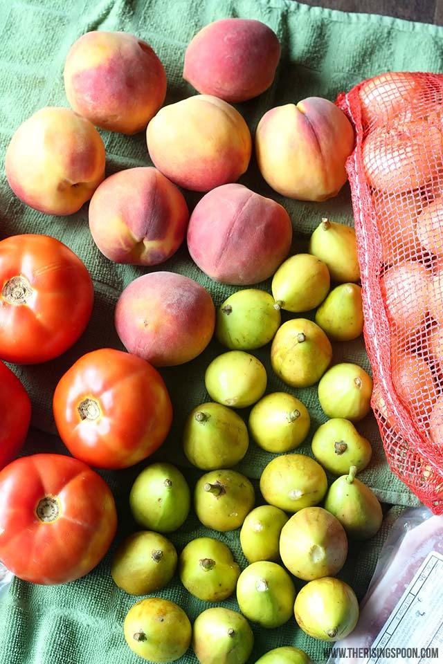 Peaches For Making a Fresh Fruit Salsa Recipe