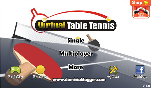 Juega Virtual Table Tennis en tu telefono movil gratis