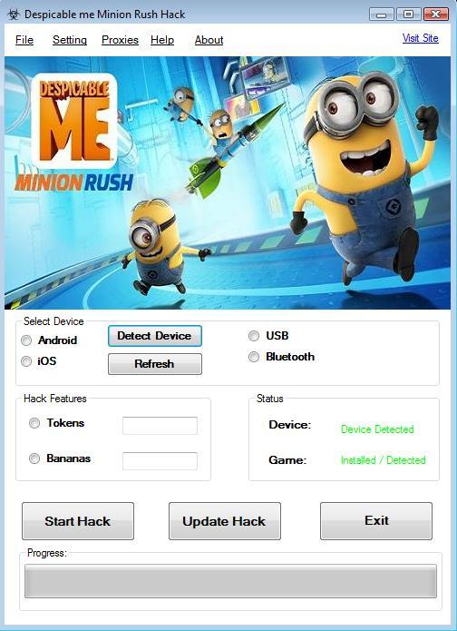 Despicable me Minion Rush Cheat: Minion Rush Tool Tokens & Bananas ...