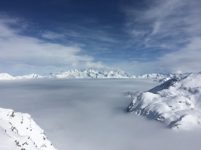 An inversion at Roche De Mio - La Plagne - Feb 2016