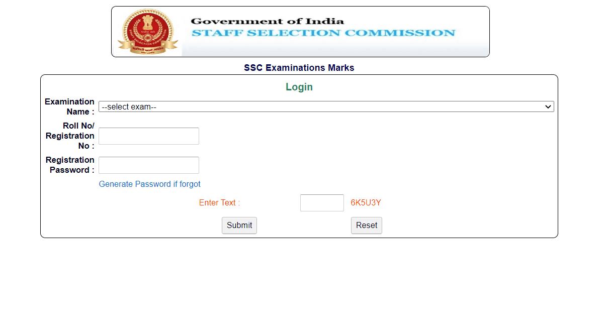 SSC CPO Marks 2018