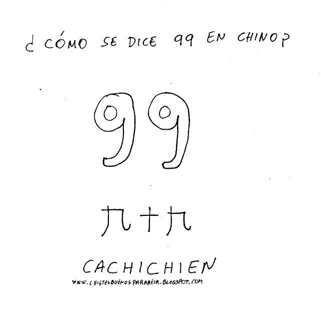 ¿Cómo se dice 99 en chino? Cachichien