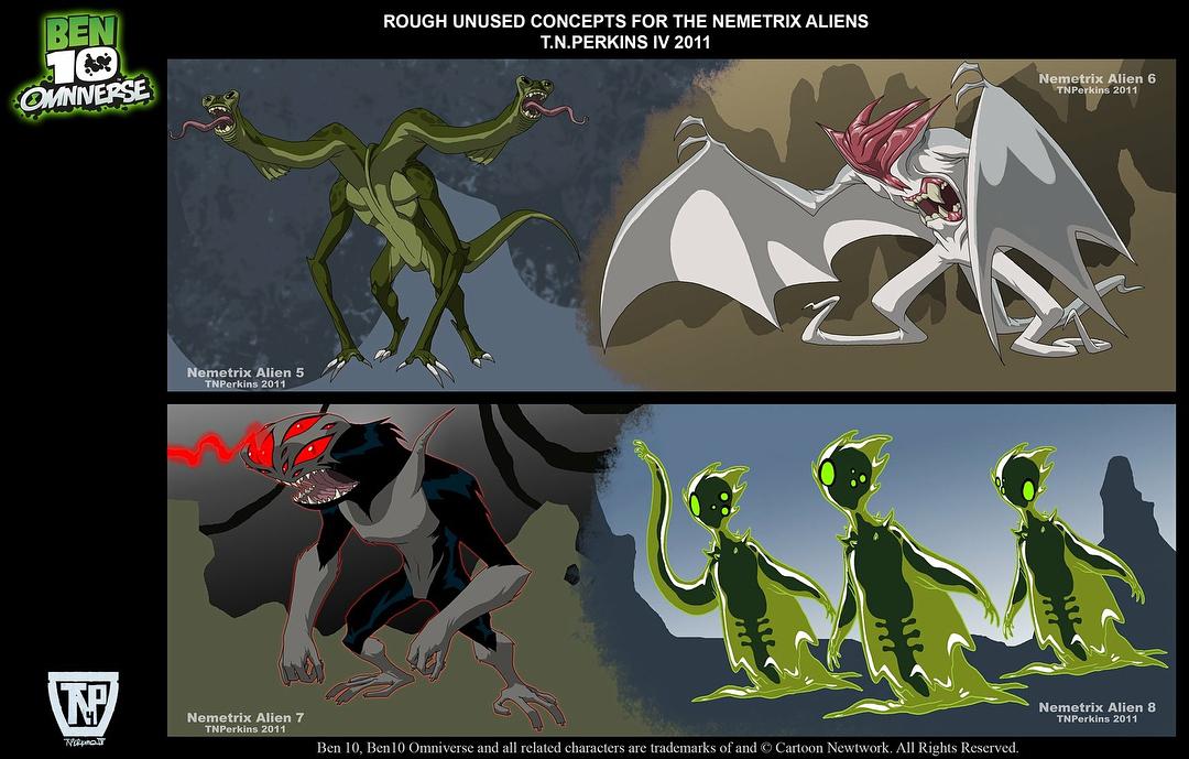 Unused Nemetrix Predators Concept Art!