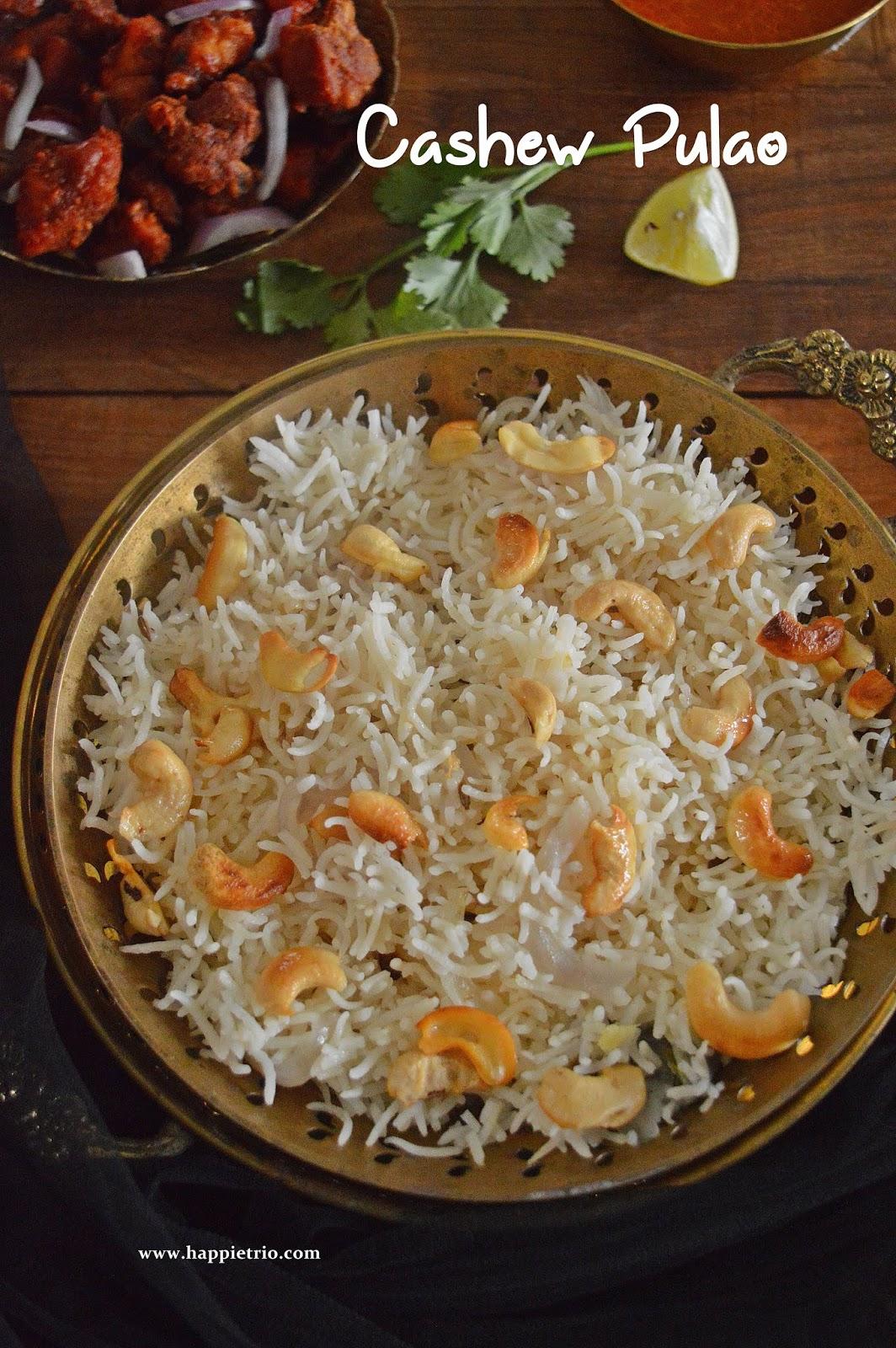 Cashew Pulao Recipe | Kaju Pulao