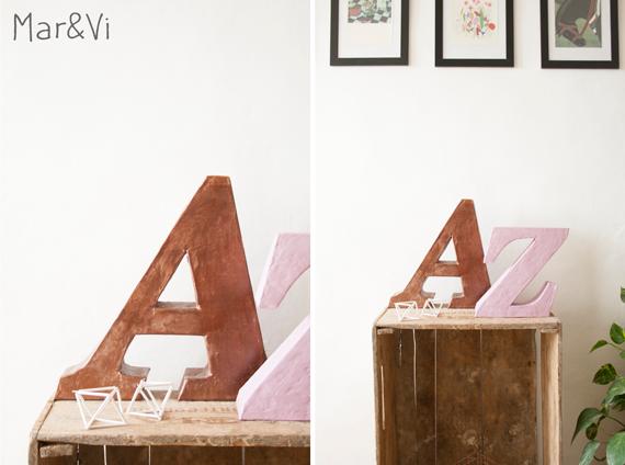 Como hacer letras decorativas paso a paso