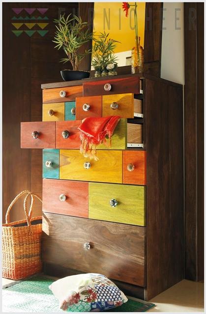 decoração colorida indiana