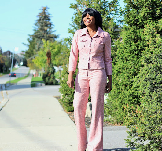 DID MY PANTSUIT BY BEBE JUST GET A STREET STYLE APPROVAL?