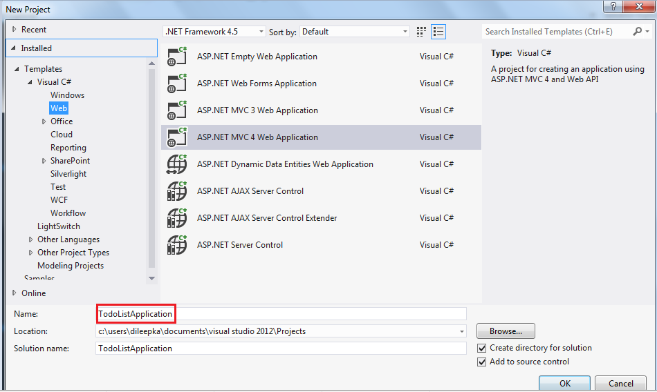 ASP NET MVC-4,Entity Framework and JQGrid Demo with simple Todo List