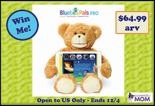 Enter the Bluebee Pals Sammy the Bear Giveaway. Ends 12/4