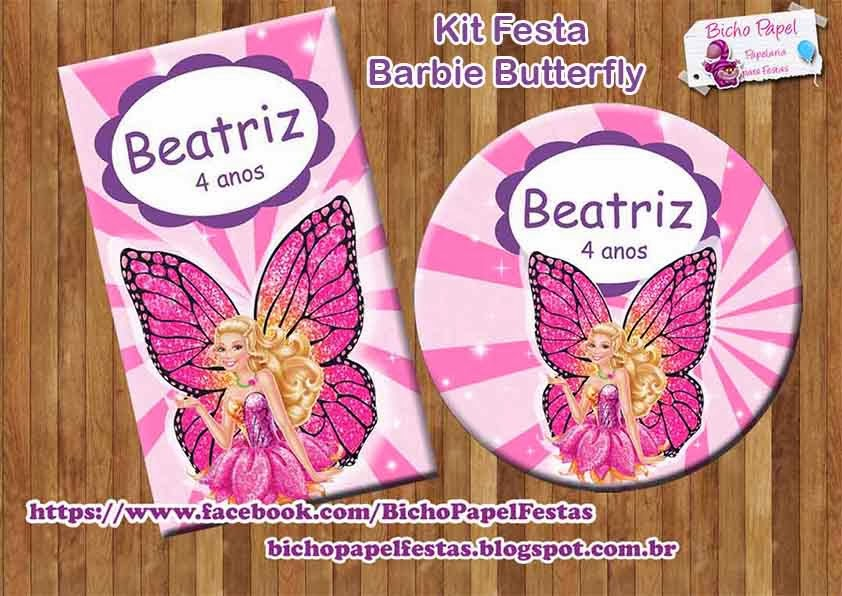 Kit Festa Digital Barbie Butterfly