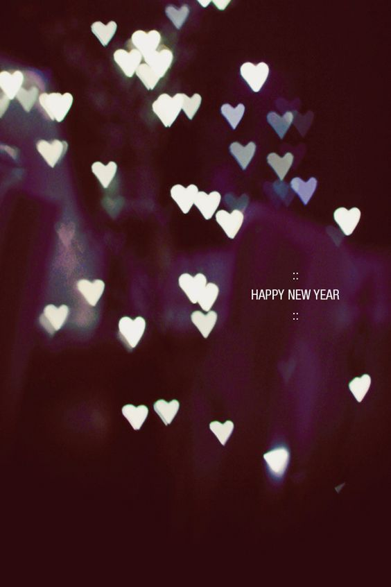 happy new year heart mobile wallpapers