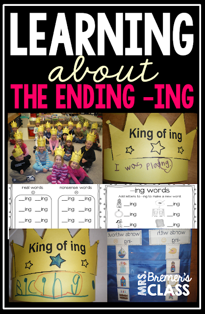 Activities to learn about the ending -ING