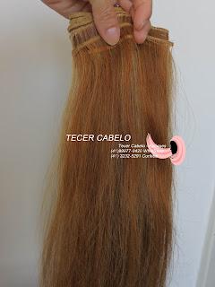 Cabelo castanho com loiro - Tecer cabelo