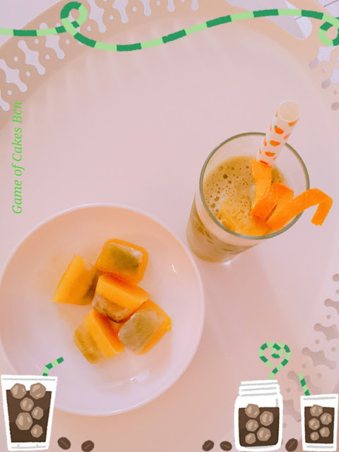 Té Matcha Helado con Naranja