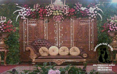 Paket pernikahan hemat di rumah dekorasi pelaminan