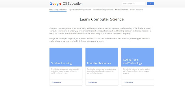 Google's New Website For Learning Computer Science