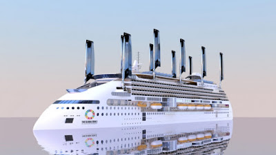 Rendering of Peaceboat's New EcoShip for Delivery in 2020 From Finland.s Arctech