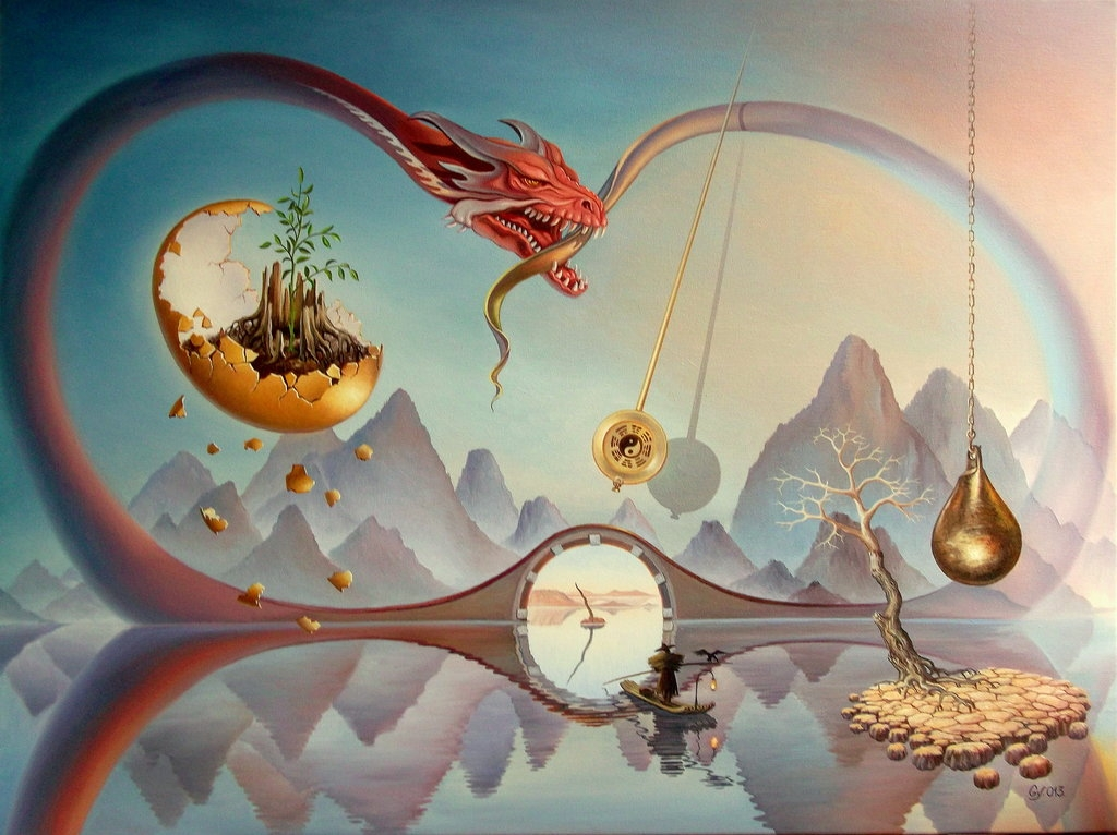 09-Through-Time-Gyuri-Lohmuller-Surreal-Oil-Paintings-full-of-Meaning-www-designstack-co