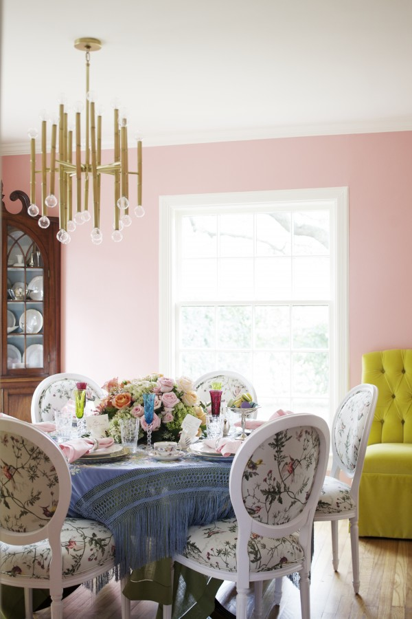 Peppermint Bliss Pink Dining Room The Glam Pad