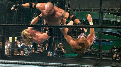 WWE SummerSlam 2003 Goldberg Clothesline HBK Shawn Michaels Y2J Chris Jericho World Heavyweight Championship