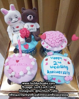 Cupcake LINE Brown and Cony