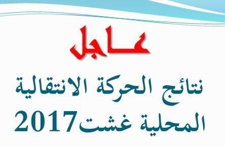 مديرية أزيلال  نتائج الحركة الانتقالية المحلية غشت 2017