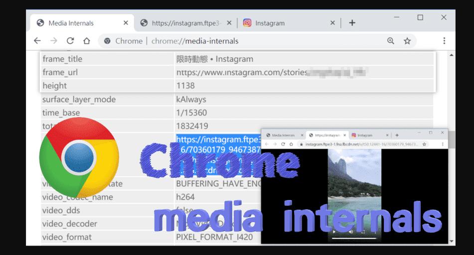Chrome 打開 Media internals 下載網路影片
