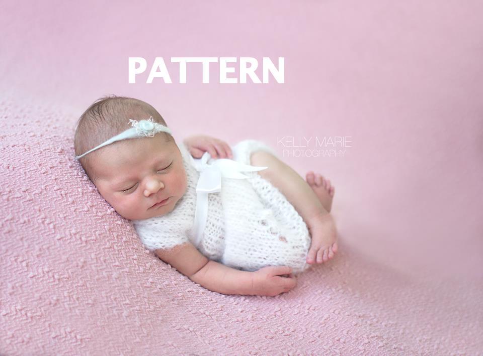 Knitting pattern for a darling newborn dress