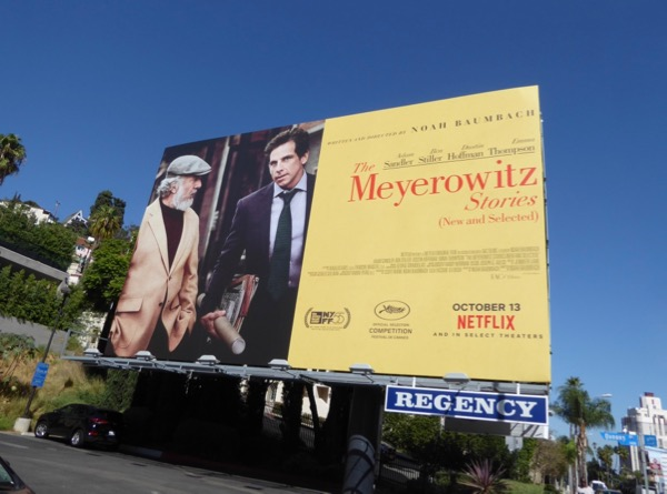 Meyerowitz Stories movie billboard