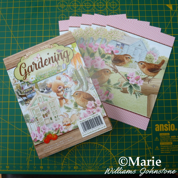 The little book of gardening Hunkydory with bird scene pictures for card making handmade notecards craft
