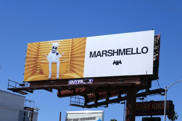 Marshmello rubber duck billboard