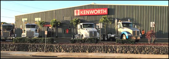 New Kenworth Dealership in Kailua-Kona, Hawaii