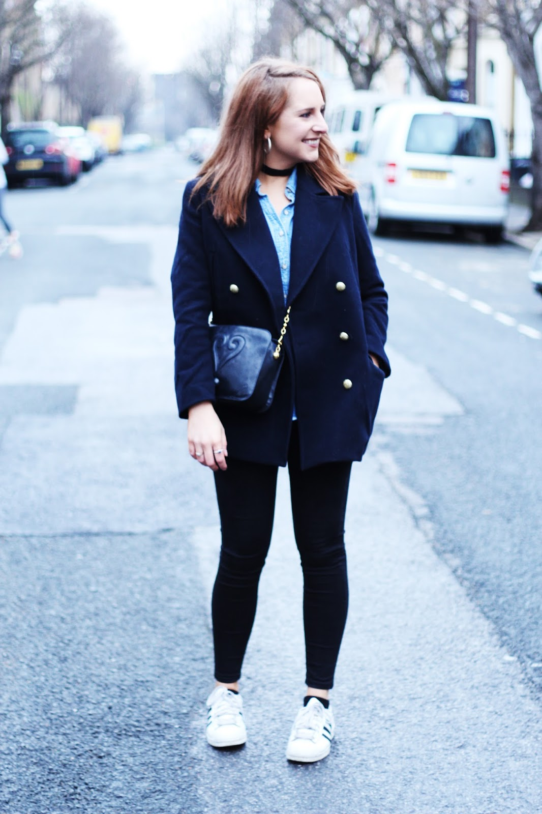 pea coat outfit