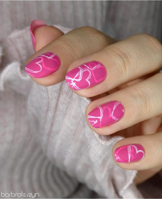 walentykowe paznokcie