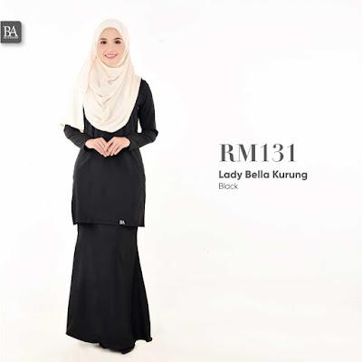 hitam baju kurung