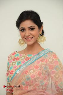 Actress Priyanka Bharadwaj Pictures in Saree at Mister 420 Press Meet  0014.JPG