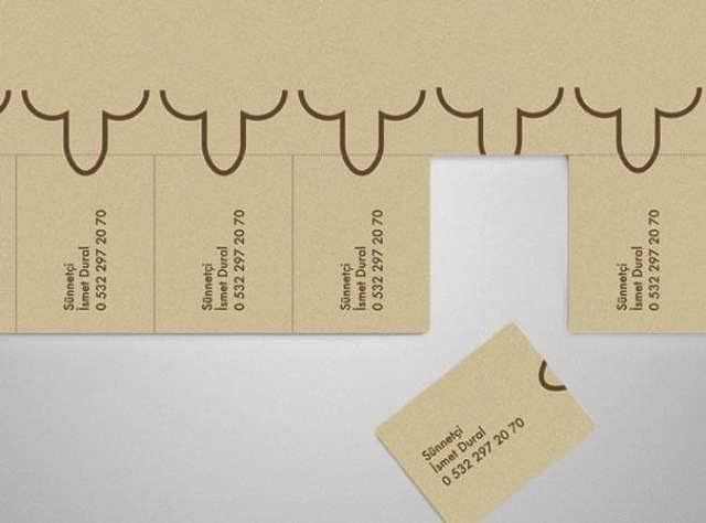 ilginç ve yaratıcı kartvizit tasarımlarına örnek, Sünnetçi