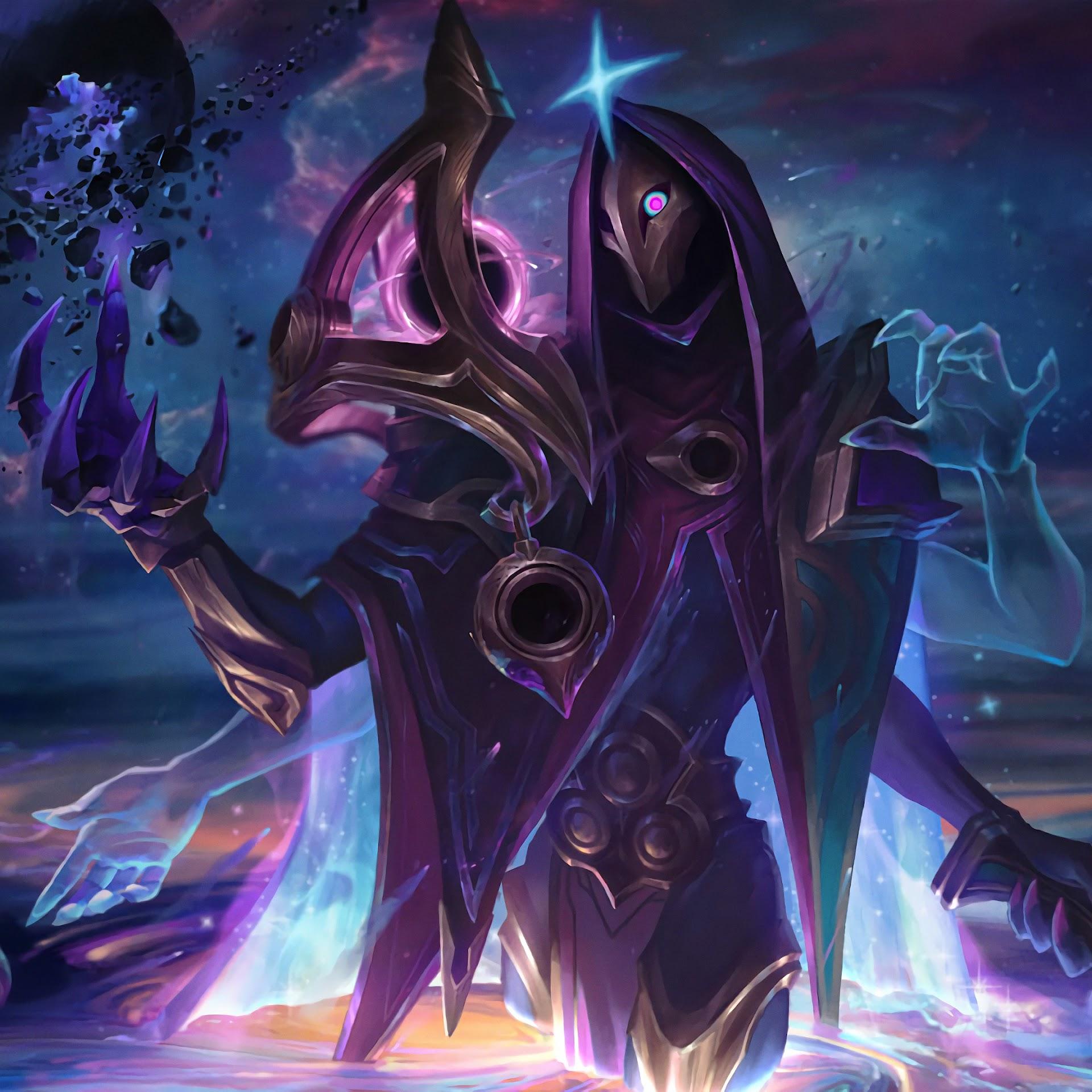 Dark Cosmic Jhin, Splash Art, LoL, 4K, #87 Wallpaper