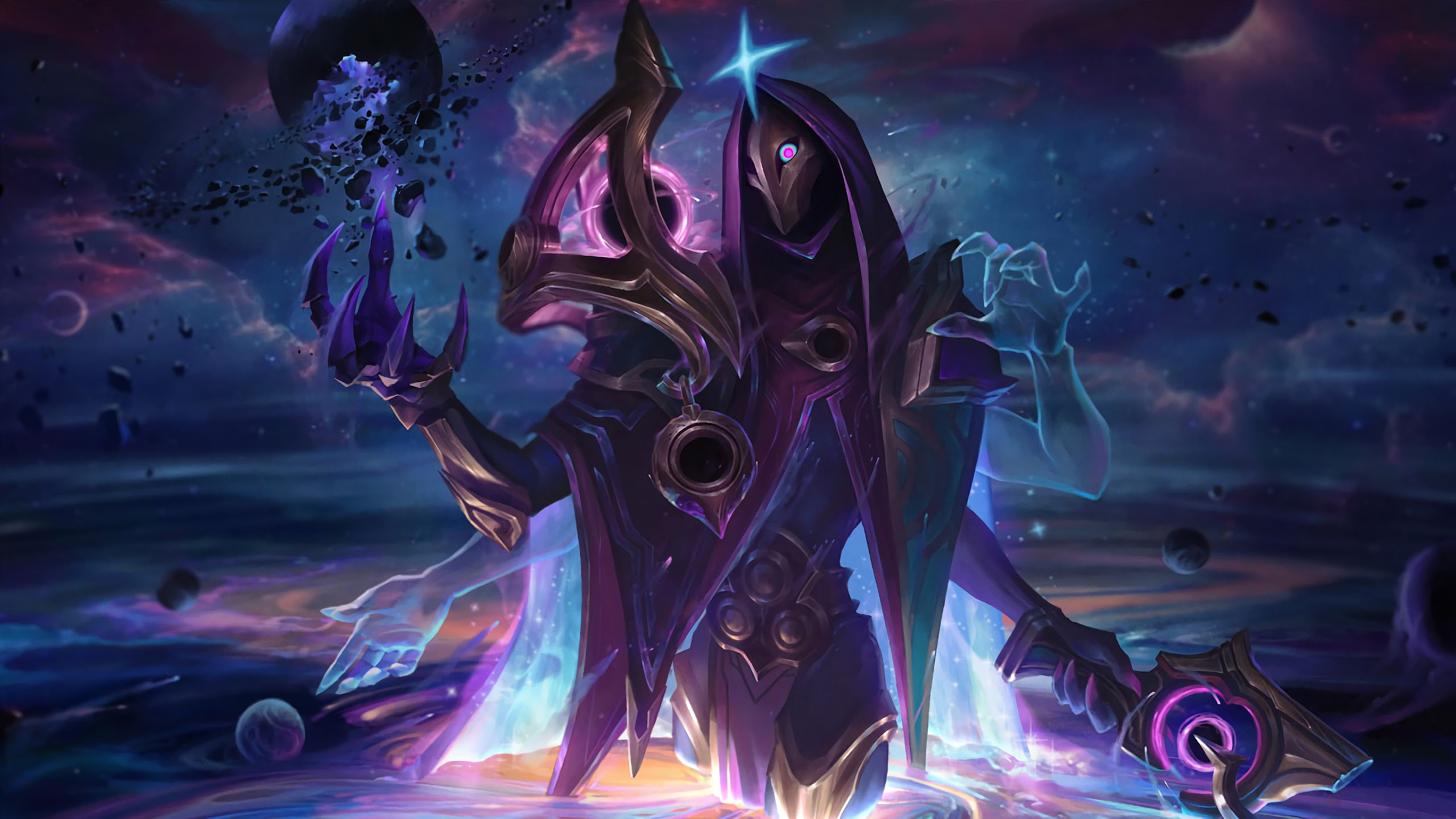 Dark Cosmic Jhin Splash Art Lol 4k Wallpaper 87