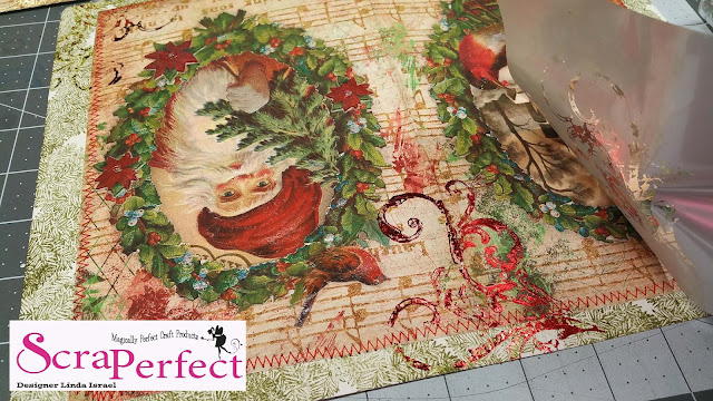 How to apply foil to a Christmas Junk Journal the fast and easy way