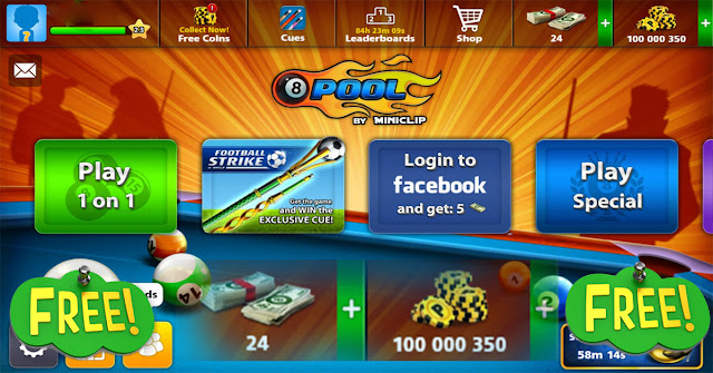 8 ball pool free coins and cash