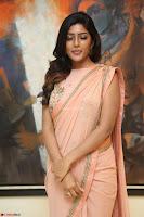 Eesha Rebba in beautiful peach saree at Darshakudu pre release ~  Exclusive Celebrities Galleries 024.JPG