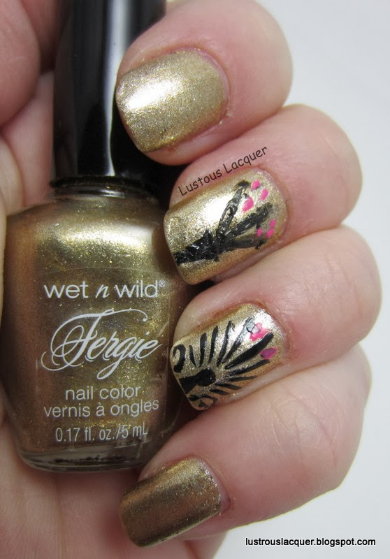 Anthemion-Pattern-Gold-Album-Fergie-Wet-n-Wild
