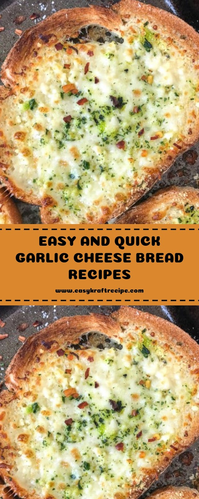 EASY AND QUICK GARLIC CHEESE BREAD