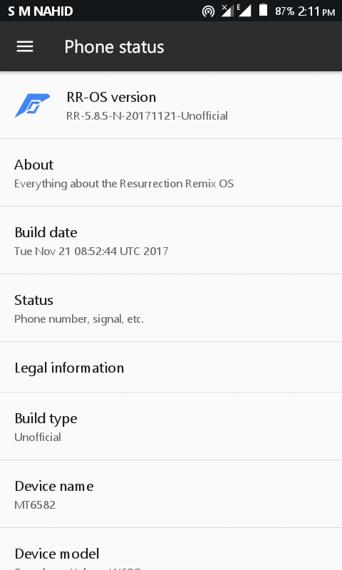 MT6582] [7 1 2] Resurrection Remix v5 8 5 N Rom For Symphony