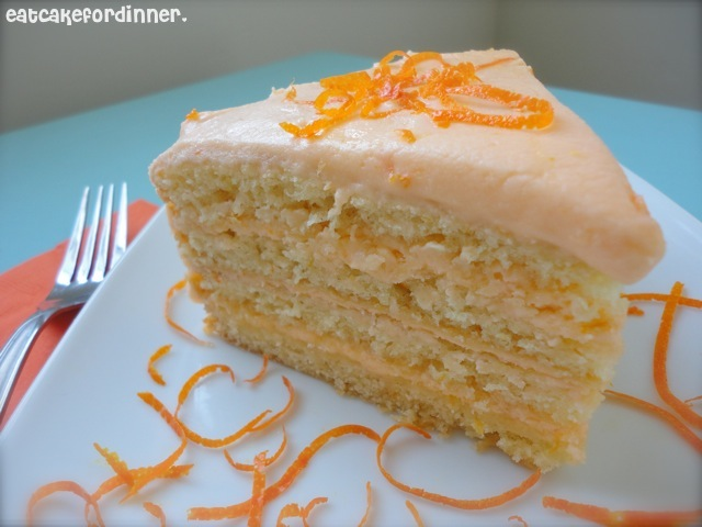 Eat Cake For Dinner Orange Buttermilk Cake With Zesty Sweet Curd
